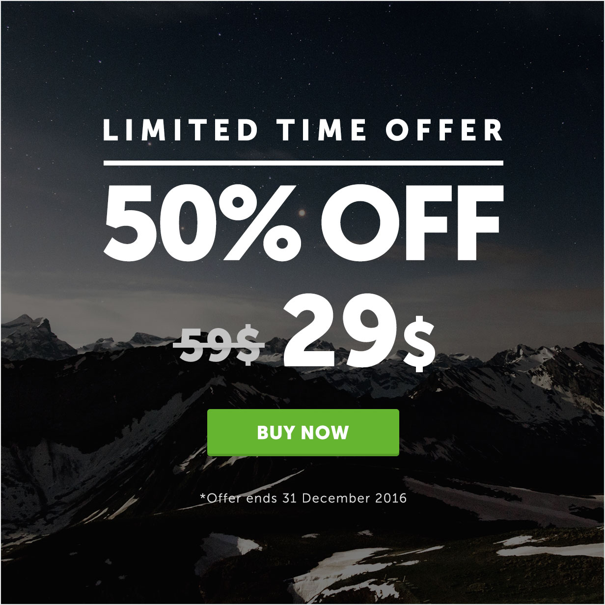 50% OFF - Limited time