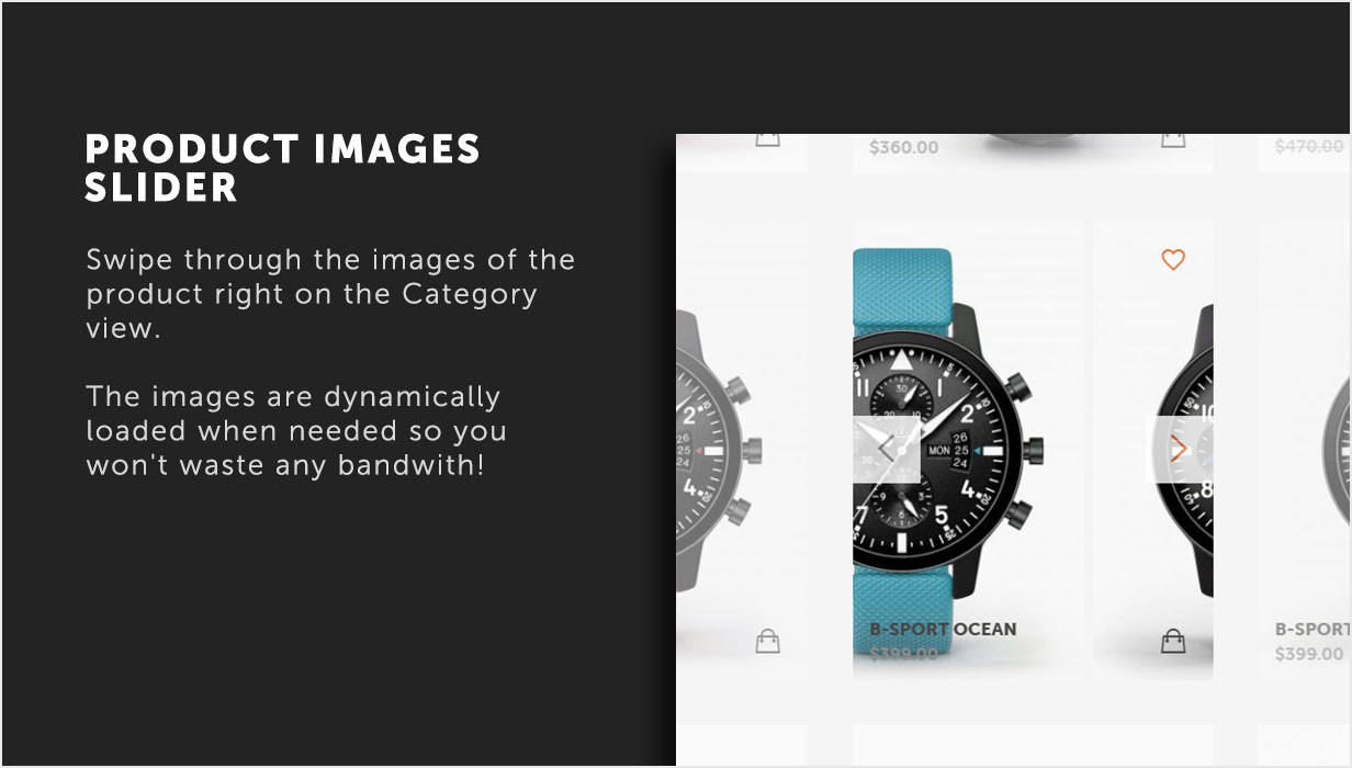 Product Images Slider in category view