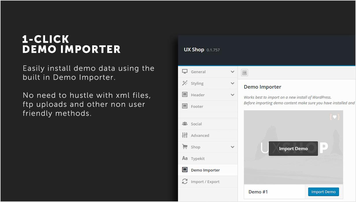 1-Click Demo importer